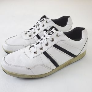 FootJoy Mens Golf Shoes White Black Leather Lace